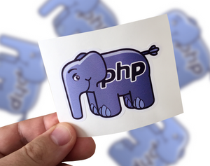 PHP Sticker, PHP Laptop Sticker, php Car Sticker, php