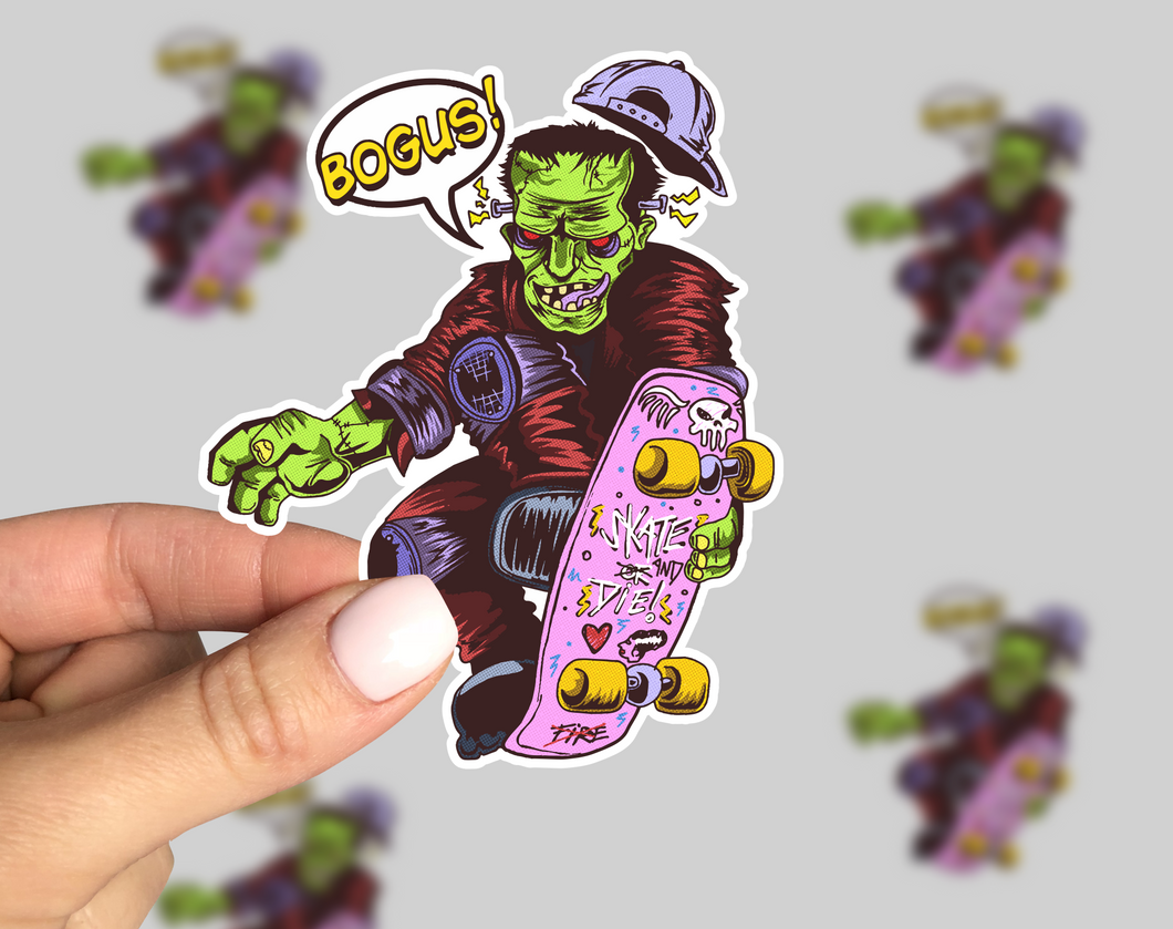 Shreddinstein Sticker, Skateboard sticker, Horror Sticker, Monster Sticker, Friday the 13th