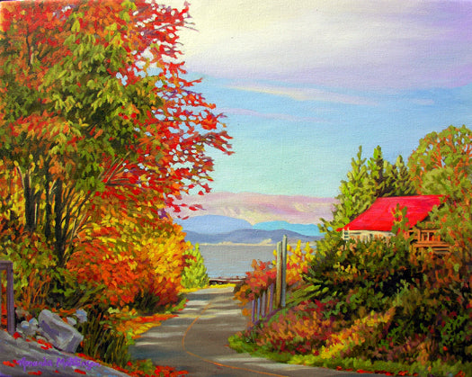 Autumn Afternoon in VanAnda painting by Amanda Martinson