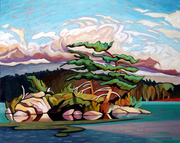 Juniper Islet Painting by Amanda Martinson available as prints