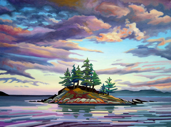 Skedans Islet painting by Amanda Martinson available as prints