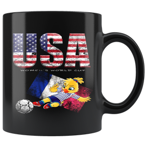 USA Soccer Mug Women's World Cup 2019 Mugs-soccer USA Soccer Mug with Ettie {{ crystalmagicdesigns }}