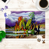 AJ's Little Island painting Jigsaw Puzzle by Amanda Martinson