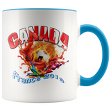 Canada Soccer Mug Women's World Cup 2019 Mugs-soccer Blue {{ crystalmagicdesigns }}