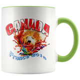 Canada Soccer Mug Women's World Cup 2019 Mugs-soccer Green {{ crystalmagicdesigns }}