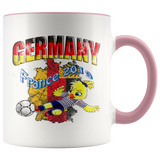 Germany Women's Soccer Accent Mug 2019 world cup Mugs-soccer Pink {{ crystalmagicdesigns }}