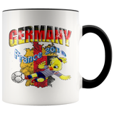Germany Women's Soccer Accent Mug 2019 world cup Mugs-soccer Black {{ crystalmagicdesigns }}