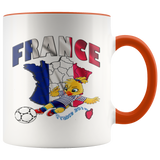 Soccer Accent Mug Collector's Women's World Cup 2019 Mugs-soccer Orange {{ crystalmagicdesigns }}
