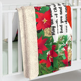 Sherpa Fleece Blanket Christmas Gift for Grandmother with Cardinals