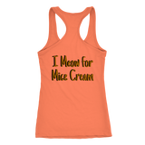 I Meow for Mice Cream Racerback Tank double sided design T-shirt {{ crystalmagicdesigns }}