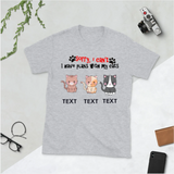 Plans With Cats Personalized Unisex T-Shirt