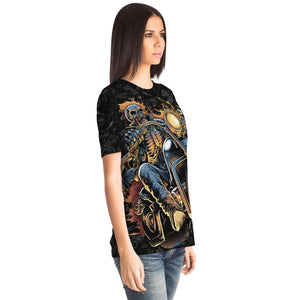 Fire Ghost Rider Night Terror all over print tshirt T-shirt {{ crystalmagicdesigns }}