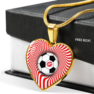 Soccer Love Heart Necklace Gift necklace {{ crystalmagicdesigns }}