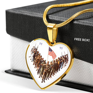 Veteran's Remembrance Day Heart Necklace