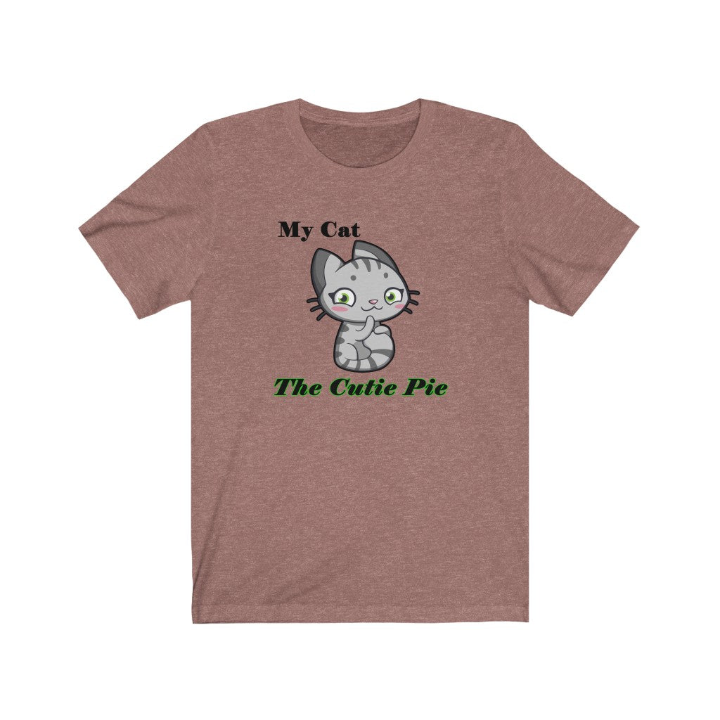 Cutie Pie Cat Personalized Unisex T-shirt