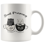 Coffee and Milk Cats Mug Good Morning