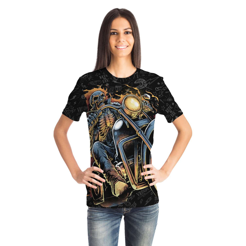 Fire Ghost Rider Night Terror all over print tshirt T-shirt XS {{ crystalmagicdesigns }}
