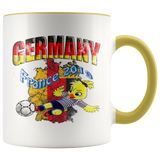 Germany Women's Soccer Accent Mug 2019 world cup Mugs-soccer Yellow {{ crystalmagicdesigns }}