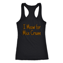 I Meow for Mice Cream Racerback Tank double sided design