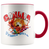 Canada Soccer Mug Women's World Cup 2019 Mugs-soccer Red {{ crystalmagicdesigns }}