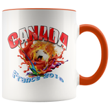 Canada Soccer Mug Women's World Cup 2019 Mugs-soccer Orange {{ crystalmagicdesigns }}