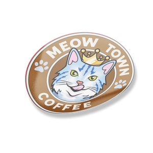 Vinyl Waterproof Sticker Meow Town Coffee Stickers 2 {{ crystalmagicdesigns }}