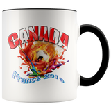 Canada Soccer Mug Women's World Cup 2019 Mugs-soccer Black {{ crystalmagicdesigns }}