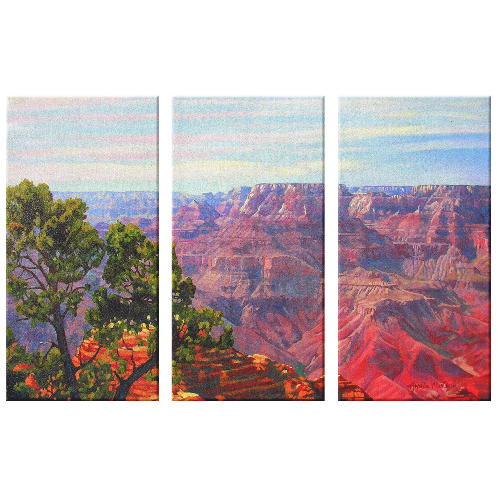 Grandview Grand Canyon Triptych Canvas Print