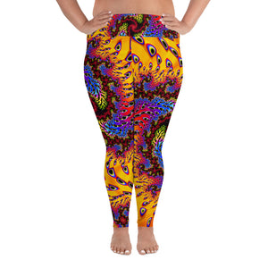 Plus Size Leggings funkadelic festival pants Leggings - AOP 2XL {{ crystalmagicdesigns }}