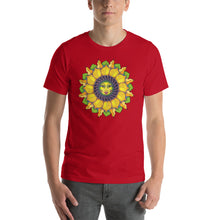 Sunflower Sunshine Girl Short-Sleeve Unisex T-Shirt up to 4X by Amanda Martinson Tshirts Red / S {{ crystalmagicdesigns }}