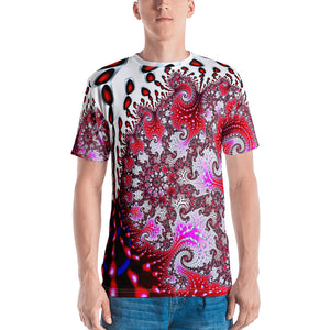 Men's T-shirt 3D fractal funkadelic Strawberry Curls T-shirt XS {{ crystalmagicdesigns }}