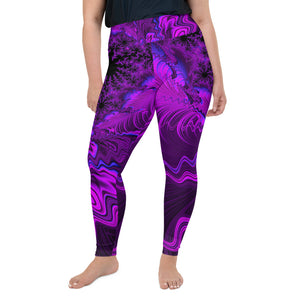 All-Over Print Plus Size Leggings Ultra Violet 2XL {{ crystalmagicdesigns }}