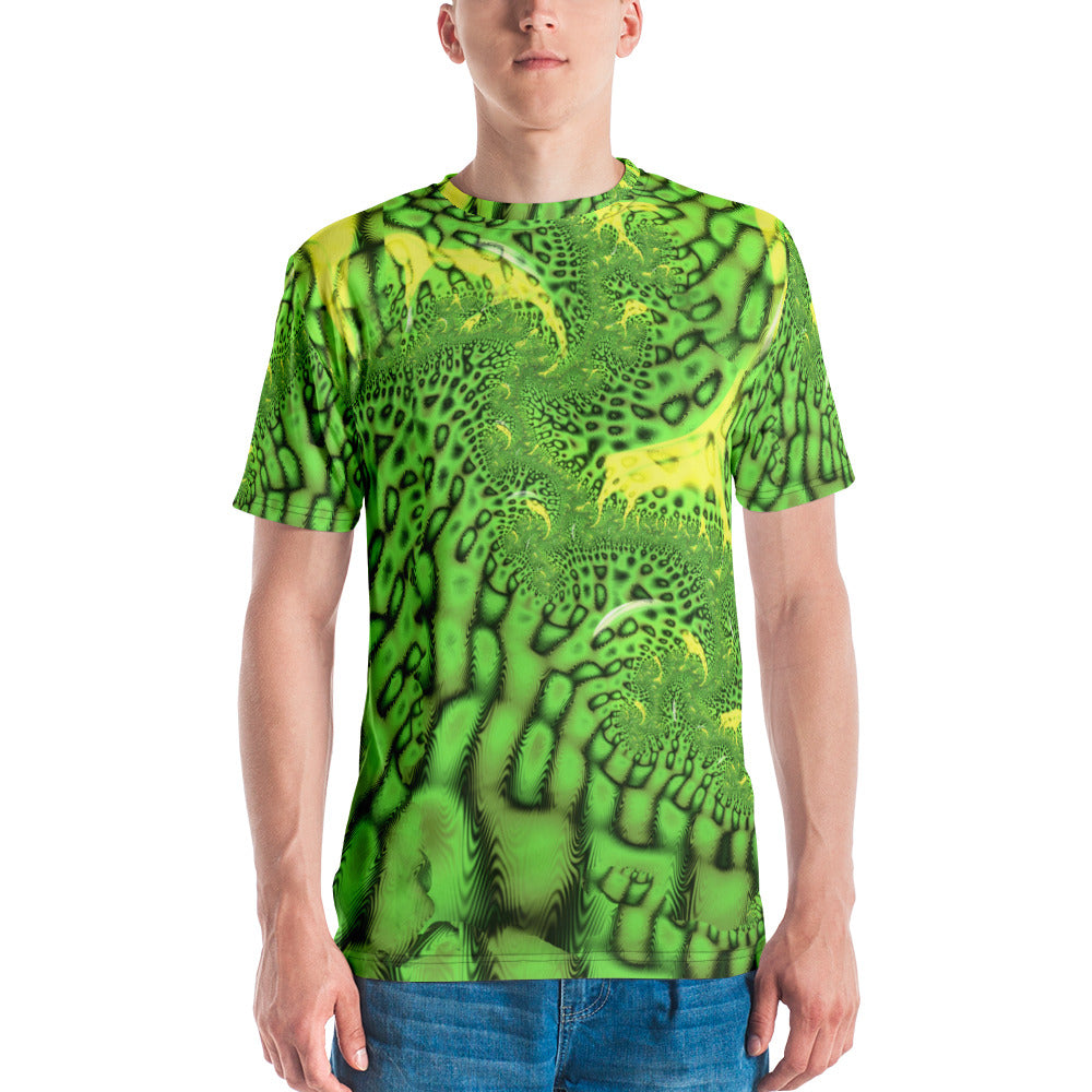 Snakeskin Fractal Men's Graphic T-shirt Psychedelic Festival Apparel