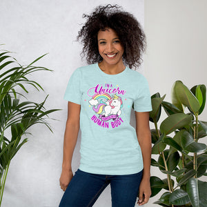 Short-Sleeve Unisex T-Shirt Heather Prism Ice Blue / S {{ crystalmagicdesigns }}