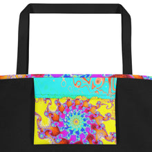"Beach Bag for Mermaids ""Tropical Octopus"" or shopping tote"