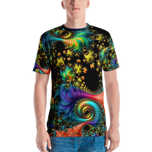 "Fractal Men's 3D T-shirt ""Galaxies"" T-shirt XS {{ crystalmagicdesigns }}"