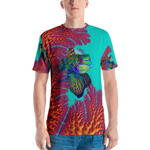 T-shirt Fractal Coral Mandarins with custom artwork Unisex T-Shirt XS {{ crystalmagicdesigns }}