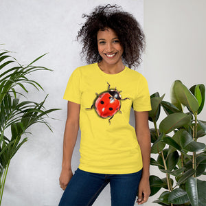Insect Unisex T-Shirt Ladybug Tshirts Yellow / S {{ crystalmagicdesigns }}