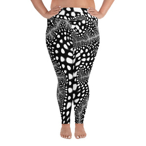Plus Size Leggings Funkadelic Fractal Design Leggings - AOP 2XL {{ crystalmagicdesigns }}