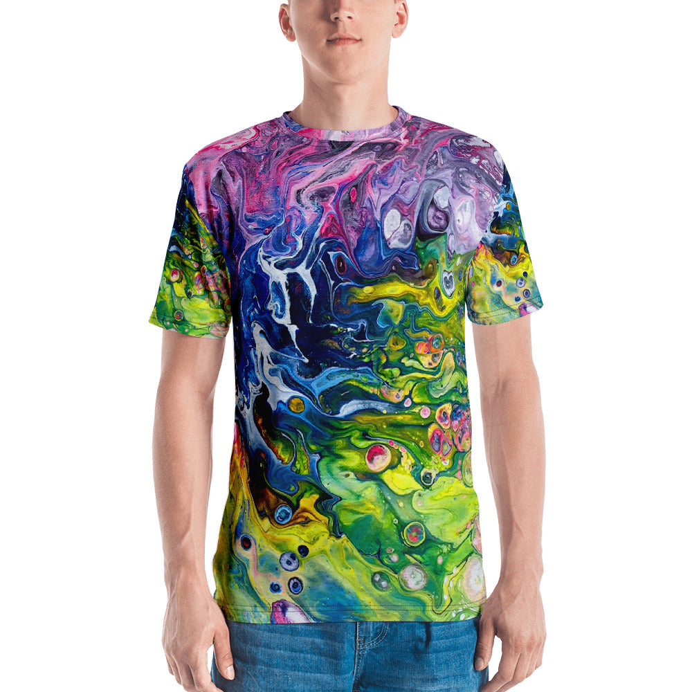 Men's 3D print T-shirt Rainbow Splash T-shirt XS {{ crystalmagicdesigns }}