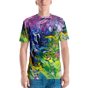 Men's 3D print T-shirt Rainbow Splash