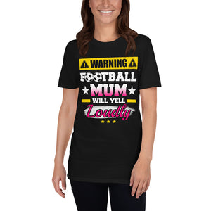 Womens T-Shirt Soccer Mom Football Will Yell Loudly T-shirt Black / S {{ crystalmagicdesigns }}
