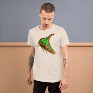 Insect Unisex T-Shirt of a Treehopper Tshirts Soft Cream / S {{ crystalmagicdesigns }}