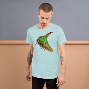 Insect Unisex T-Shirt of a Treehopper Tshirts Heather Prism Ice Bl / S {{ crystalmagicdesigns }}