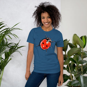 Insect Unisex T-Shirt Ladybug Tshirts Steel Blue / S {{ crystalmagicdesigns }}