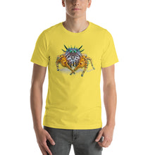 Insect Unisex T-Shirt Bad Hair Day jumping spider Tshirts Yellow / S {{ crystalmagicdesigns }}