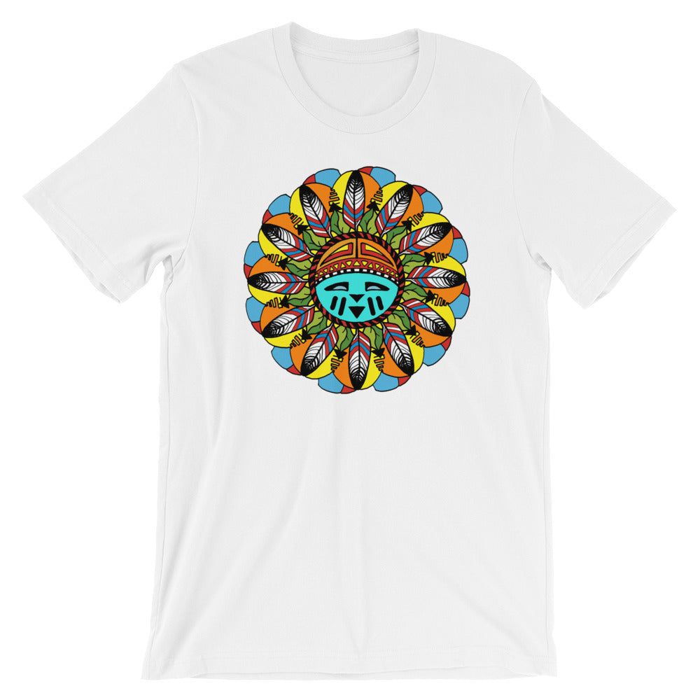 Hopi Sunshine Girl Short-Sleeve Unisex T-Shirt by Amanda Martinson Tshirts White / S {{ crystalmagicdesigns }}