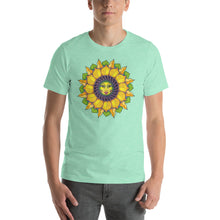 Sunflower Sunshine Girl Short-Sleeve Unisex T-Shirt up to 4X by Amanda Martinson Tshirts Heather Mint / S {{ crystalmagicdesigns }}