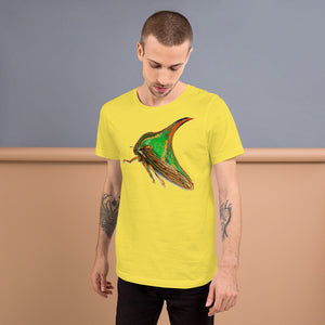 Insect Unisex T-Shirt of a Treehopper Tshirts Yellow / S {{ crystalmagicdesigns }}