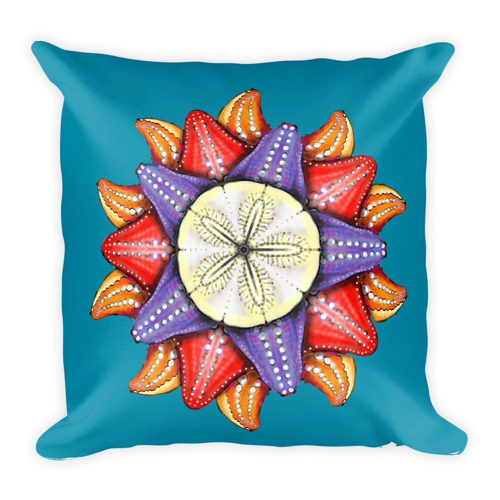 "A Dollar for Your Sea Stars Square Pillow by Amanda Martinson 18"" x 18"" pillow Default Title {{ crystalmagicdesigns }}"